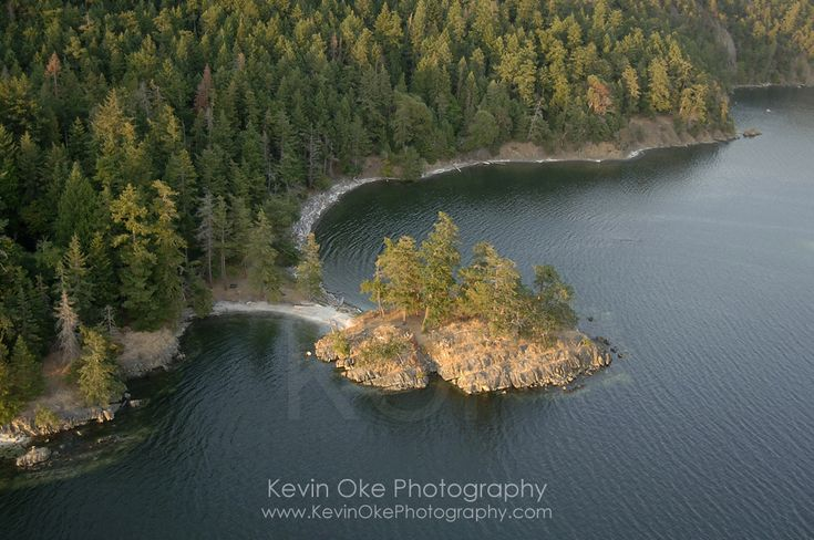 Small Islet at Beaumont Marine Park in Bedwell Harbour, South Pender Island
