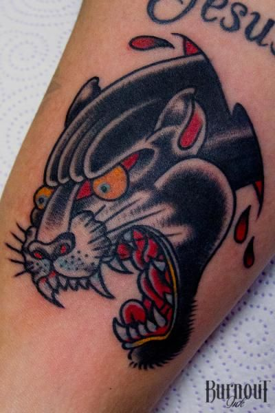 Panther head by Burnout Ink