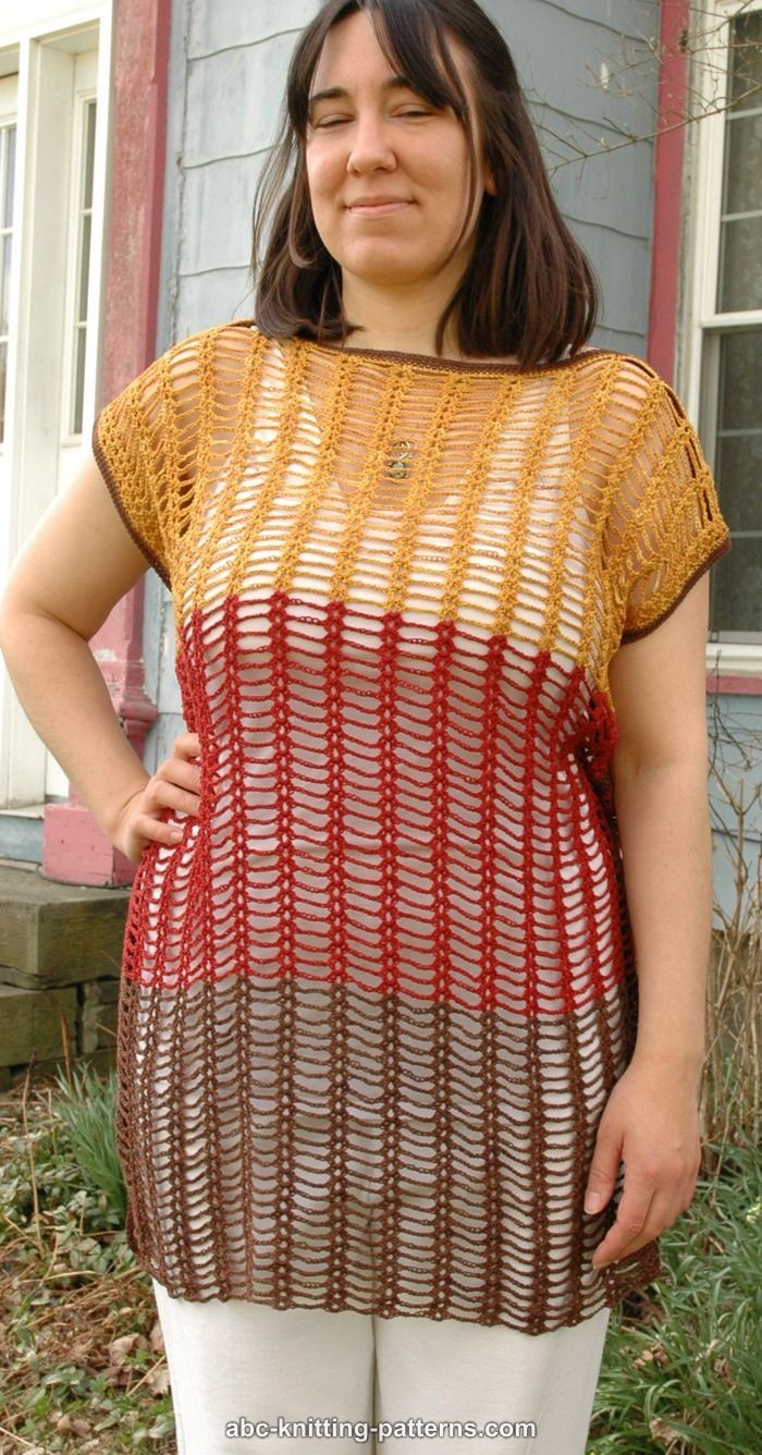 ABC Knitting Patterns - Chain and Shell Summer Top