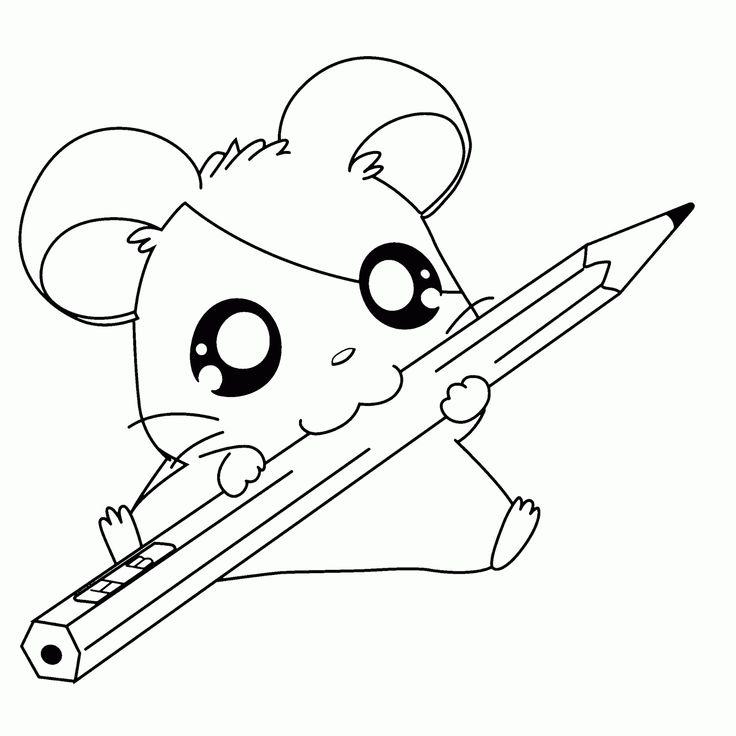 BAÚ DA WEB: Hamtaro desenhos e riscos para colorir, pintar, imprimir do Hamtaro