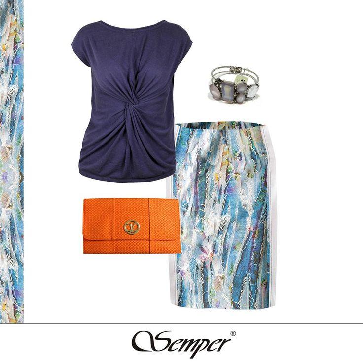 #casual #elegant #fashion #dress #fashionbrand #springfashion #summerfashion #summer2016 #printed #blue #outfit #citylook