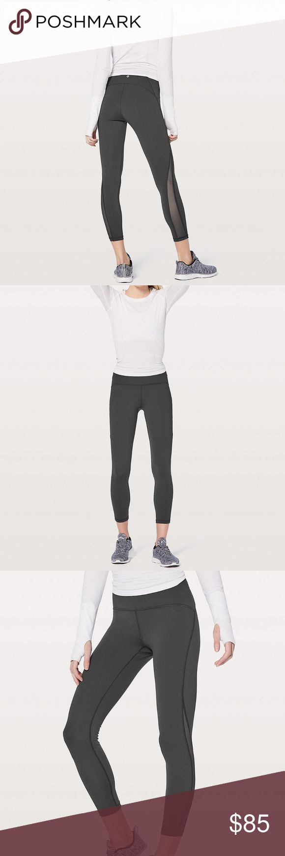 Lululemon Train Times 7/8 Pant size 4 black new First few photos show the leggings in a gray color; the pair for sale is black. Waistband is reinforced and cut on the edge, so it won't dig in or slide down. The Train Times 7/8 in particular sculpt, lift, and have that nice arched seam on the back rear panel, making a nice little rainbow-like arc over your derriere. Brand new, never worn, took the tags off but the wash tag is still on. I have too many pairs and just never got around to…