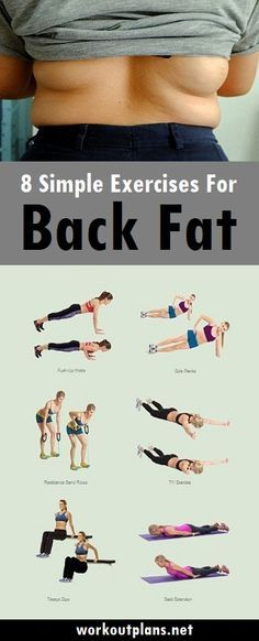 8 simple exercises to reduce back fat fast
