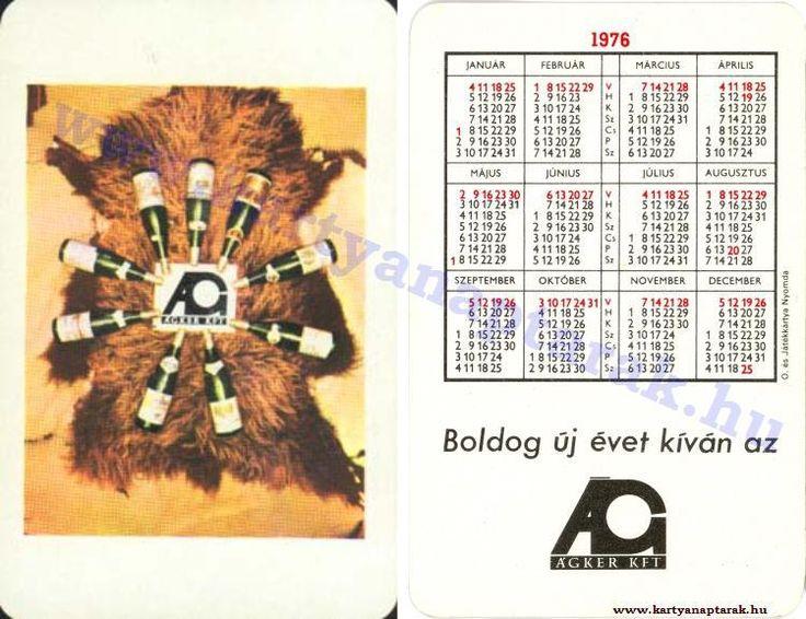 1976 - 1976_0816 - Régi magyar kártyanaptárak