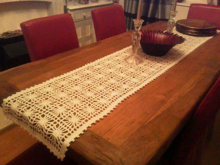 Chemin de table crochet tricot crochet pinterest for Chemin de table eurodif