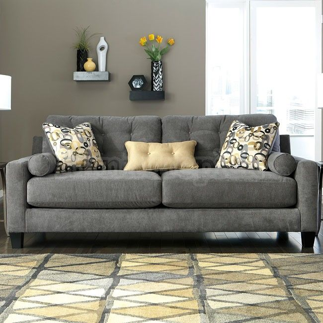 charcoal living room furniture mallbern charcoal sofa home sweet home 12794