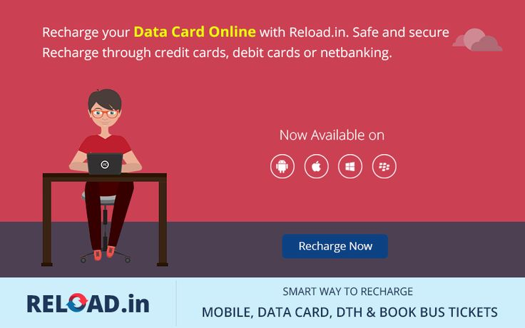 Recharge your #DataCard Online with Reload.in. Safe and secure Recharge through credit cards, debit cards or netbanking. Visit @ www.reload.in/datacard/