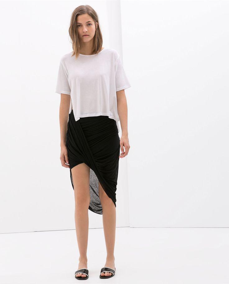 Image 1 of DRAPED SKIRT from Zara