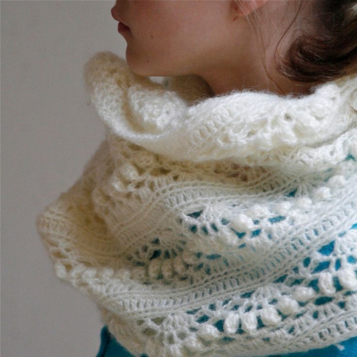 Crochet+White+Mohair+Oversized+Cowl+Iris++by+PatternsbyMarianneS,+$4.50
