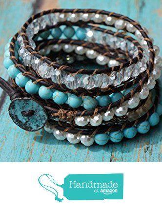 Gemstone wrap bracelet, bohemian western from Fleurdesignz Jewelry http://www.amazon.com/dp/B018BT34T0/ref=hnd_sw_r_pi_dp_eGNLwb1HKEBXD #handmadeatamazon