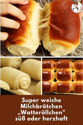 Here is my recipe for wonderfully airy rolls, which externally remind Buchteln, but can be eaten sweet and hearty. # milk bread # sweet #recipe #bread #milk bread #dinnerrolls #soft #soft #kipferl #milkbread