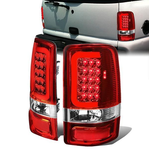00 06 Gmc Yukon Chevy Tahoe Suburban Led C Bar Tail Lights
