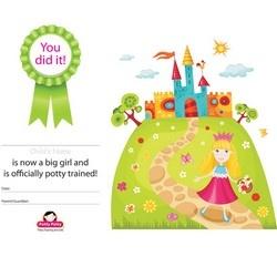 Free Princess Potty Training Certificate