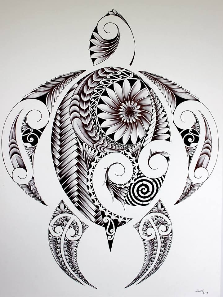 nice turtle drawing maori tattoos t towierungen. Black Bedroom Furniture Sets. Home Design Ideas