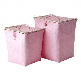 "Rice Wäschekorb ""Kurv"" (Soft Pink)"