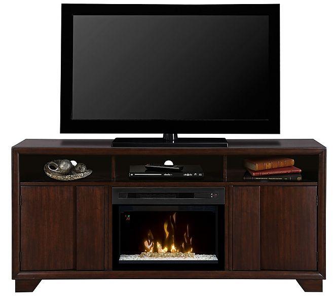 Dimplex Arkell Electric Fireplace Media Console Fireplace media center | seattleluxe.com
