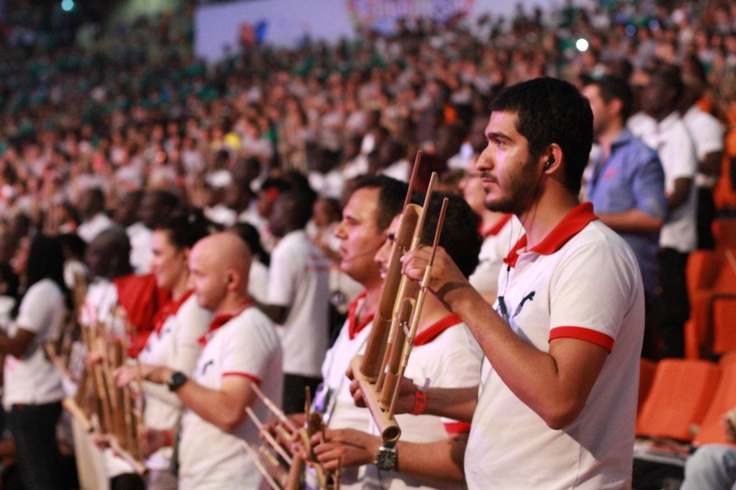 IRs from franchisee #QNET Promosyon Turkey working the angklung at #VIND12