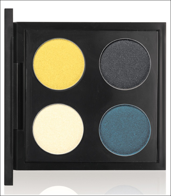 Shop MAC, Cook MAC Collection  Colour Added Eyeshadow Quad ($38.00 U.S. / $45.00 CDN) (Limited Edition)    Laundry Daze Light yellow (Satin)  Colour Added Bright yellow (Veluxe Pearl)  Self-Serve Deep grey (Satin)  Pre-Packaged Muted turquoise (Veluxe Pearl)