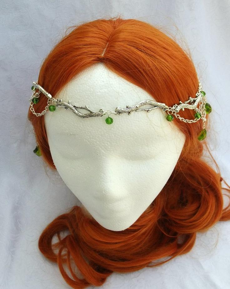 Forest Elf Branch and Fern Silver Circlet, Fairy Circlet, Elfin Headpiece, Medieval Circlet, Renaissance Crown. $38.00, via Etsy.