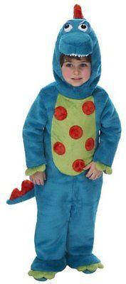 Just Costumes Pretend Kids Dino Boy Animal Costume, Large New