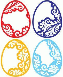 Silhouette Online Store: lace easter eggs