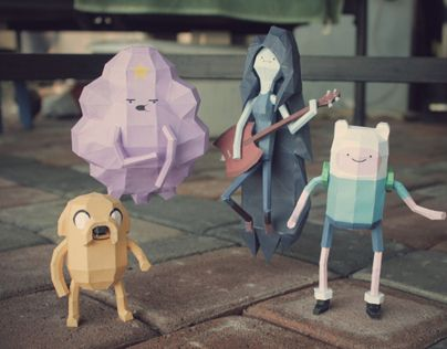 "@Behance: ""Adventure Time Papercrafts"" https://www.behance.net/gallery/8032745/Adventure-Time-Papercrafts"