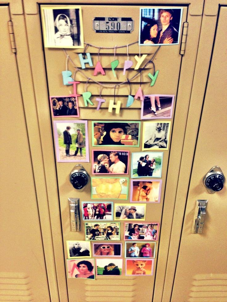 ... Locker Decorations Birthday, Birthday Locker Decorations, Birthday