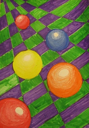 op art  Small scale tho:  new markers too.  Kids get tired of the coloring involved.