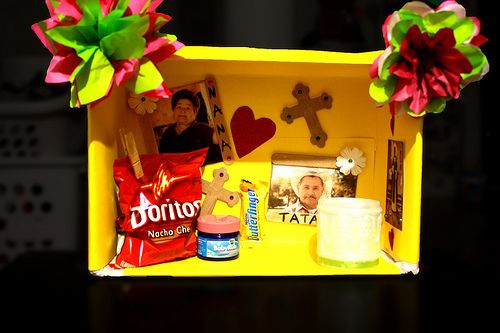 Day of the dead shoebox altar school spanish holidays for Day of the dead arts and crafts