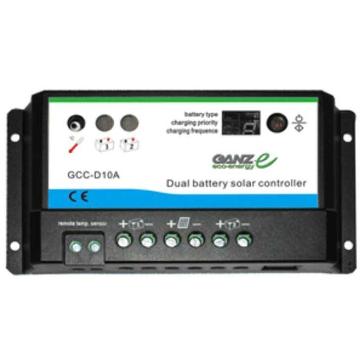 Ganz Eco-Energy Dual Charge Controller - 12/24V