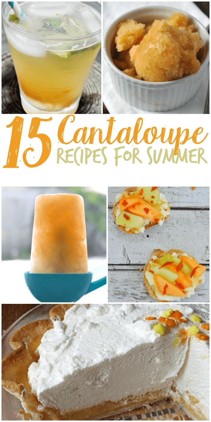 Be sure to check out these 15 Cantaloupe Recipes!! We love to get cantaloupe at the farmers market every summer its such a great treat!