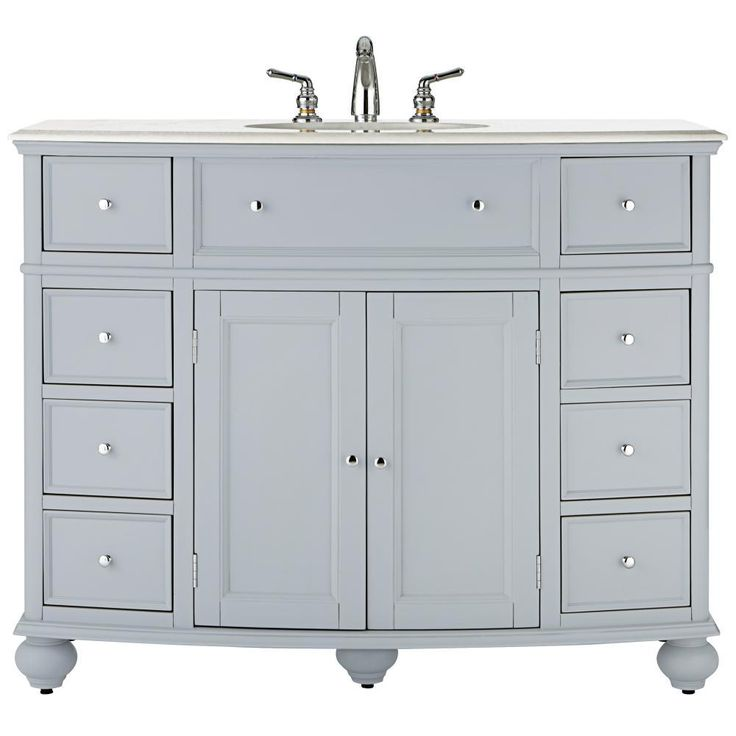 Home decorators collection hampton harbor 45 in w vanity for Home decorators vanity top