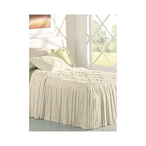 Linensource home drop ruffle chenille bedspread king for Chenille bedspreads