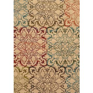 Oversized Floral Ivory/ Multi Polypropylene Rug (5' x 7'6) | Overstock.com Shopping - Great Deals on Style Haven 5x8 - 6x9 Rugs