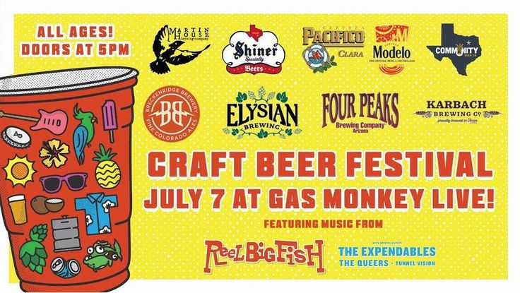 Join us tomorrow evening for our Craft Beer Festival! Over 10 breweries will be on site of Gas Monkey Live ready to let you sample their awesome beer! Tickets available now! #beer #holdmypumpkinpeachale
