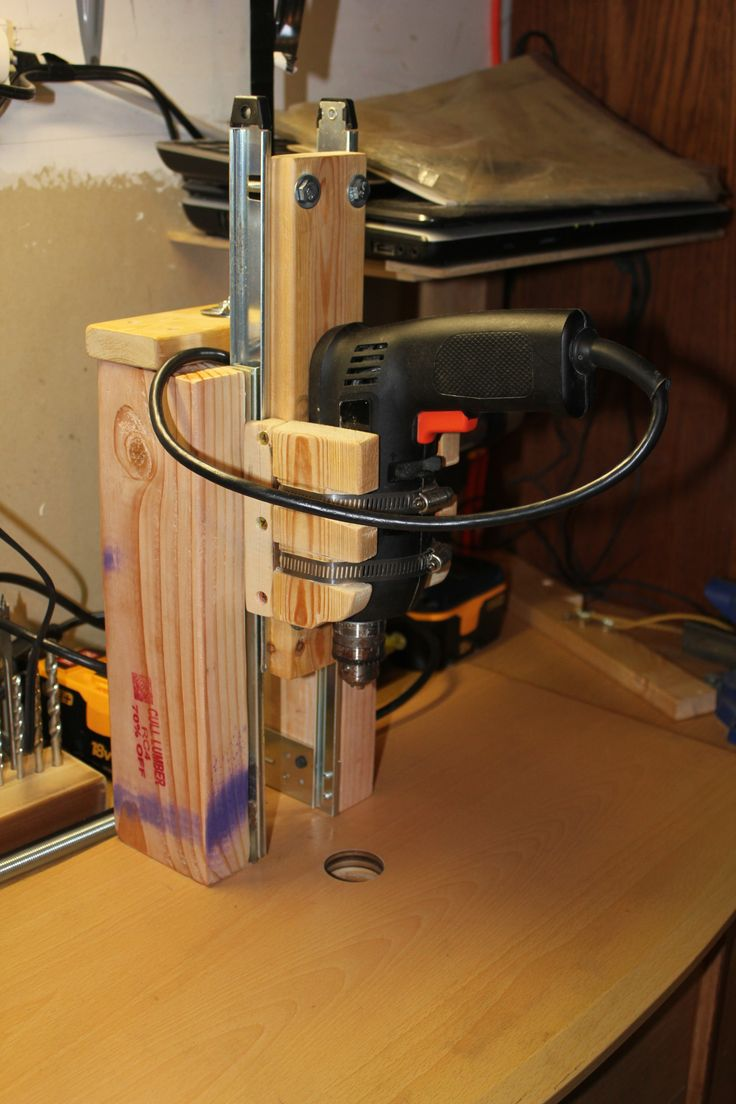 Homemade Drill Press 1st Design Woodworking My