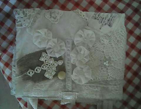 Shabby chic Bible cover: front