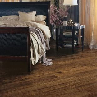 Solid oak plank floor
