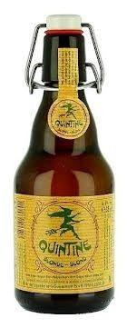 Cerveja Quintine Blonde, estilo Belgian Golden Strong Ale, produzida por Brasserie Ellezelloise, Bélgica. 8% ABV de álcool.