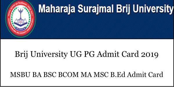 Brij University Admit Card 2019 Cards University Free Web Hosting