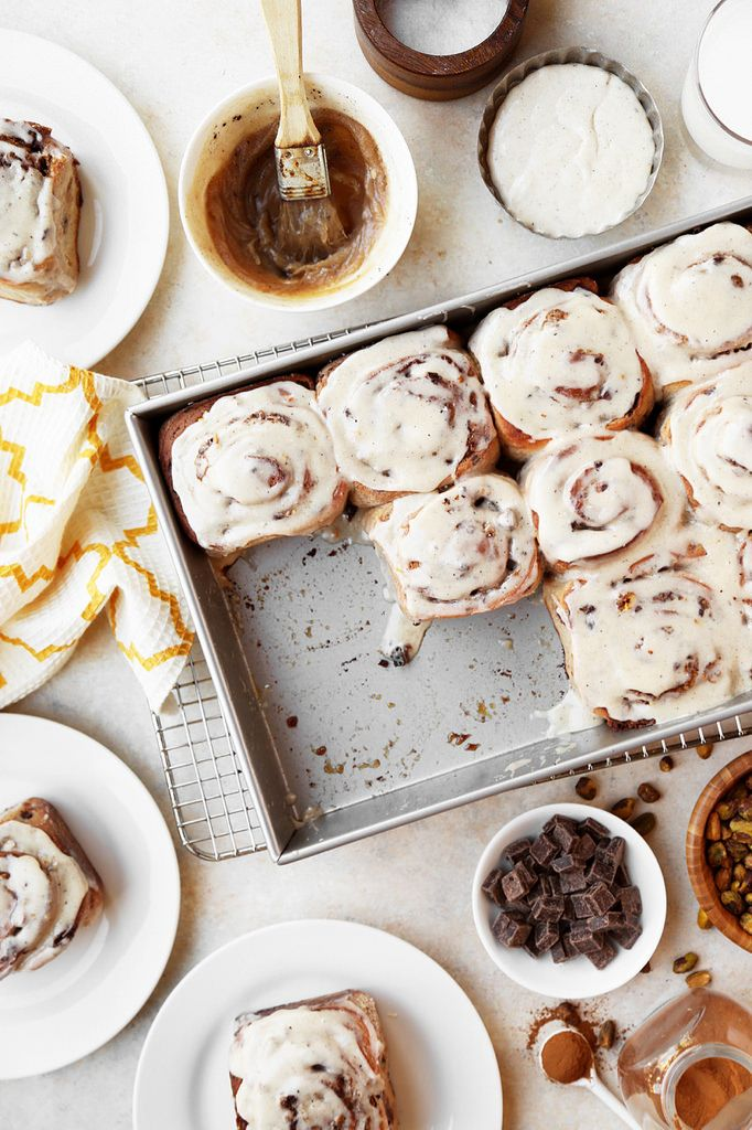 Brown Butter Chocolate Chip Cookie Cinnamon Rolls - The Candid Appetite