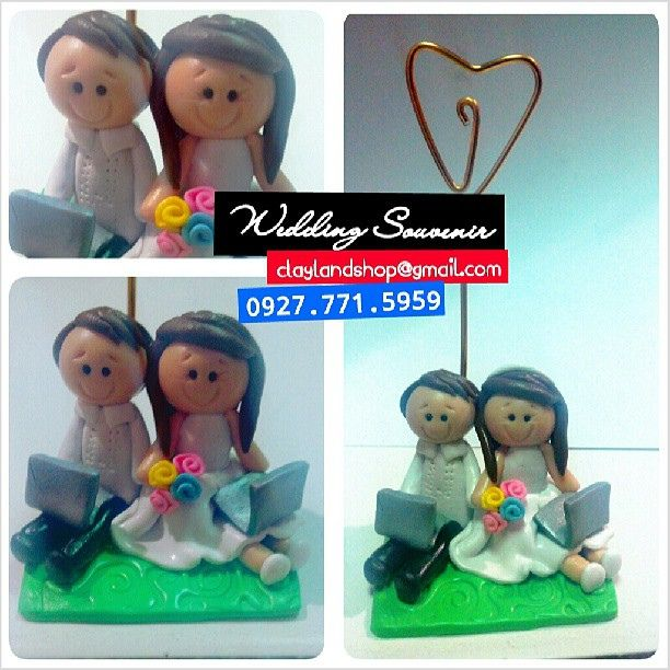Wedding souvenir by @claylandshop  email add: claylandshop@gmail.com  SMS/VIBER: 0927.7715959  #wedding #souvenir #unique #cute #lovely #adorable #groom #bride #handmade #gift #giveaway #favor #party #clay #handcrafted #instacute #instamood #instagood #be