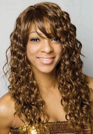Trendy New Arrival Long Curly Premier Golden 100% Human Hair Lace Wig about 18 Inches for Preety Girl #wigs #prettywighair #africanamericanwigs #hair #hairstyle #haircolor #beauty #fashion