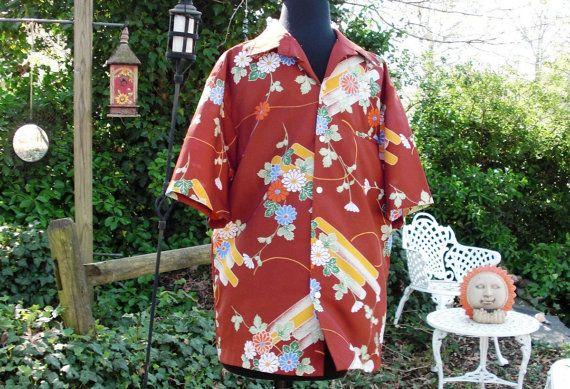 Mens 70s Shirt Vintage Hawaiian Shirt 70s Tropical Shirt ...