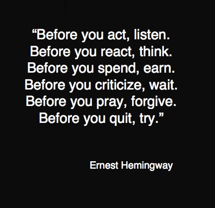 OK Hemingway, it you say so, but I don't really feel up to it right now.Hemingway Quotes, Ernest Hemingway, Asking For Forgiveness Quotes, Forgiving Myself Quotes, Wise Quotes To Live By, Friends Before Quotes, Guilt Quotes, Before Bed Quotes, I Love You For Her Quotes