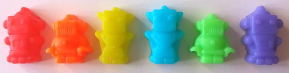 Soap + Mini Robot Soaps + Party Favors + Set of 12 + Boy Birthday Party + BigTRanchSoap.etsy.com, $6.00