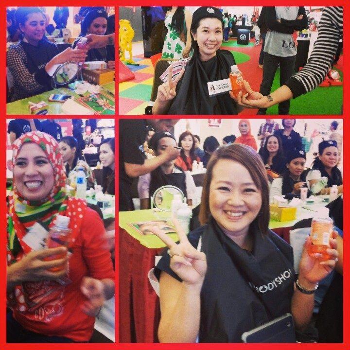 Yeaaay... di Beauty Class #TBSGiveJoy banyak hadiah @The Body Shop Indonesia @CiputraWorldSBY