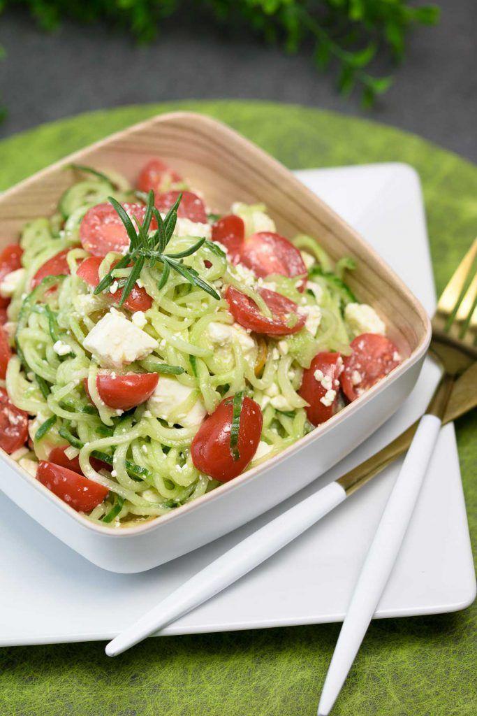 Schneller Gurken-Tomaten-Salat mit Feta | Schwarzgrueneszeb… – Low Carb Ideen