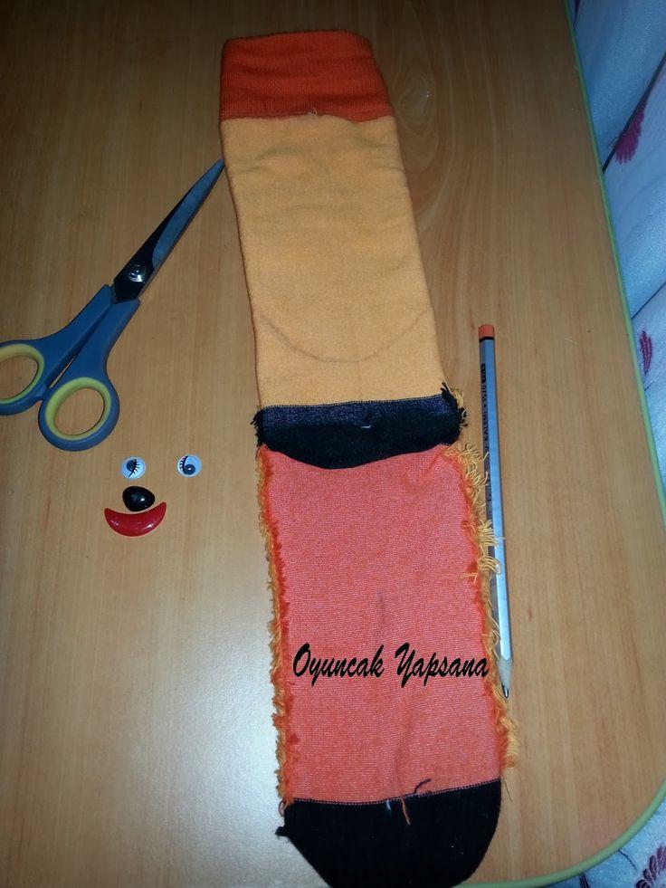 oyuncak yapsana: Çoraptan Kedi Yapımı