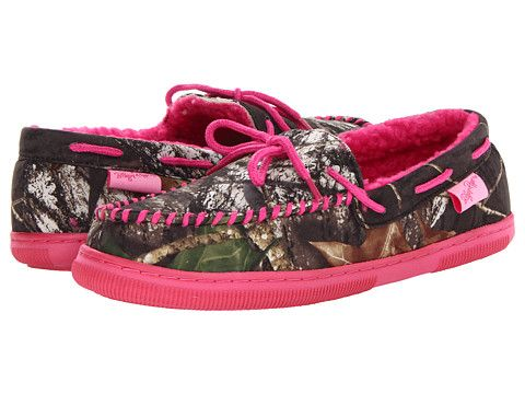 Camo Slippers for Women - M&F Western Mossy Oak Moccasin Slippers Mossy Oak/Hot Pink - Zappos.com Free Shipping BOTH Ways